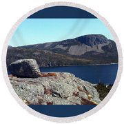 Sugarloaf Hill From The Lookout  Round Beach Towel