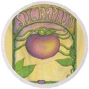 Sugarplum #4 Round Beach Towel