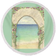 Sugarplum #6 Round Beach Towel