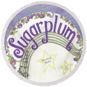 Sugarplum Logo Round Beach Towel