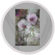 Suggestion Of An Orchid Round Beach Towel