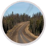 Suicide Hill Round Beach Towel