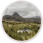 Suilven Mountain Round Beach Towel