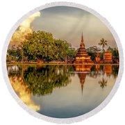 Sukhothai Park Round Beach Towel