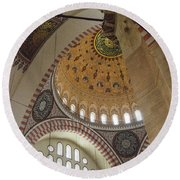 Suleymaniye Arches And Domes Round Beach Towel