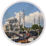 Suleymaniye Camii Round Beach Towel