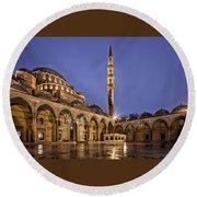 Suleymaniye Mosque Round Beach Towel
