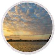 Sullivan Bay Sunrise Round Beach Towel