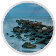 Sullivan's Island Rock Jetty Round Beach Towel