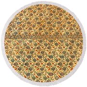 Sultan Ahmed Mosque Tiles Round Beach Towel