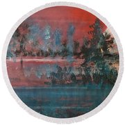 Sultry Sunset Round Beach Towel