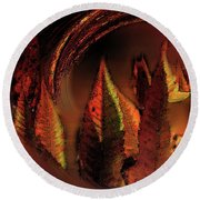 The Sumac Forest Round Beach Towel by Wayne King