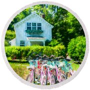 Summer Afternoon In The Hamptons Round Beach Towel