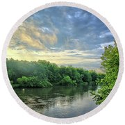 Summer Along The West Fork Round Beach Towel