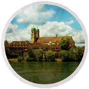 Summer. At The Resort In Bad Saeckingen. Germany. Round Beach Towel