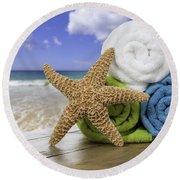 Summer Beach Towels Round Beach Towel by Amanda Elwell