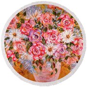 Summer Bouquet Round Beach Towel