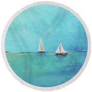 Summer Breeze-e Round Beach Towel