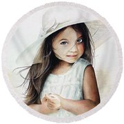 Summer Claire Round Beach Towel