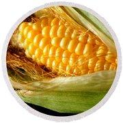 Summer Corn Xl Farm Nature Harvest Round Beach Towel
