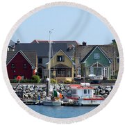 Summer Cottages Dingle Ireland Round Beach Towel