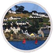 Summer Cove, Kinsale, Co Cork, Ireland Round Beach Towel