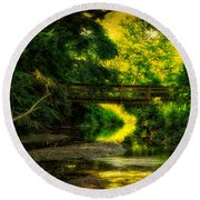 Summer Creek Round Beach Towel