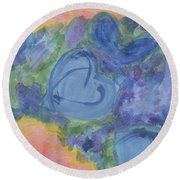 Summer Dance Of The Hearts #49 Round Beach Towel