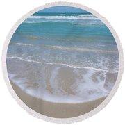 Summer Day At The Beach Round Beach Towel