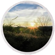 Summer Day Going Into Evening.  Round Beach Towel