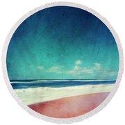 Summer Days IIi - Abstract Beach Scene Round Beach Towel