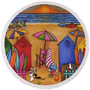 Summer Delight Round Beach Towel