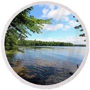 Summer Dreaming On Lake Umbagog  Round Beach Towel