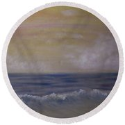 Summer Dreams In Color Round Beach Towel by Judy Hall-Folde