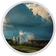 Summer Farm Round Beach Towel
