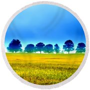 Summer Field Round Beach Towel