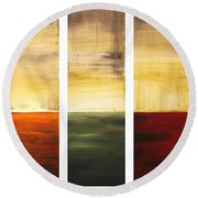 Summer Fields By Madart Round Beach Towel
