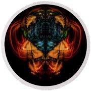 10644 - Summer Fire Mask 44 - The Battle Imp Round Beach Towel