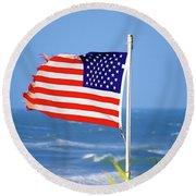 Summer Flag Round Beach Towel