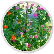 Summer Flowers 13 Round Beach Towel