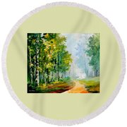 Summer Forest Round Beach Towel