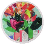Summer Frolic Round Beach Towel