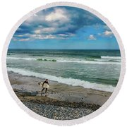 Summer Fun Round Beach Towel