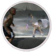 Summer Fun In Newark Nj Round Beach Towel