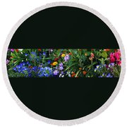 Summer Garden 3 Round Beach Towel