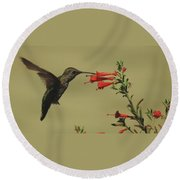 Summer Hummer Round Beach Towel