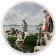 Summer Idyll Round Beach Towel