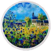 Summer In Foy Notre Dame  Round Beach Towel