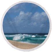 Summer In Hawaii - Banzai Pipeline Beach Round Beach Towel