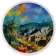 Summer In Mogimont Round Beach Towel